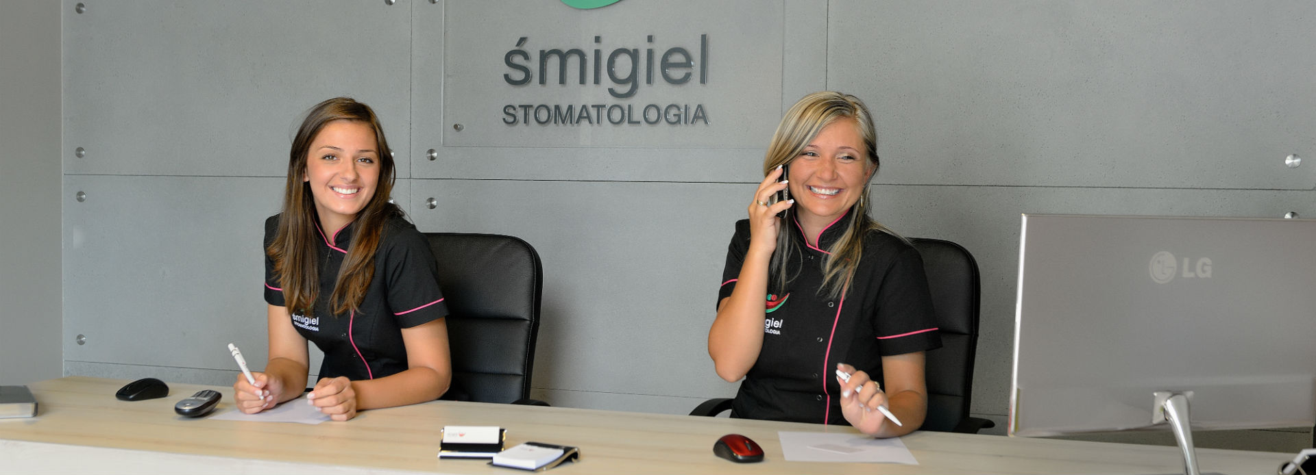 Recepcja w klinice stomatologicznej Smigiel